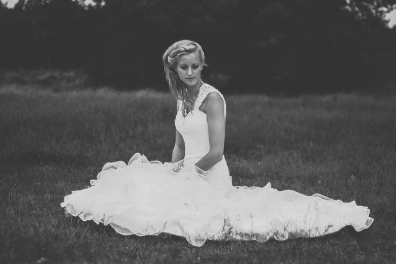 Bride in B&W -