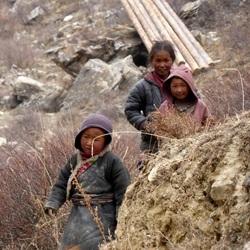 Kinderen in de Hymalaya