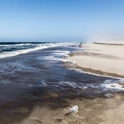 Texel  storm op het strand