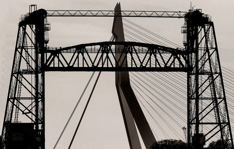 lijnen spel  - Brugge in Rotterdamse have ..
