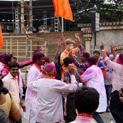 Onverwacht feest op straat in India