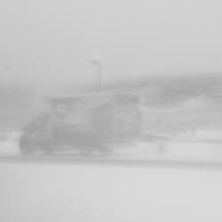 bus in de winter