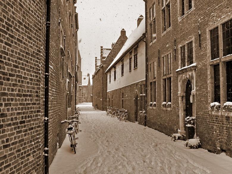 Leuven in de winter - Foto genomen op 20-12-2009, Groot Begijnhof in Leuven België.