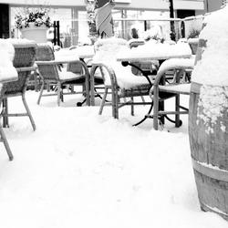 Gouda, terras van Cafe Central