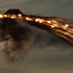 LYNX firing flares