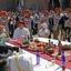 Middeleeuwse maaltijd in tegenlicht