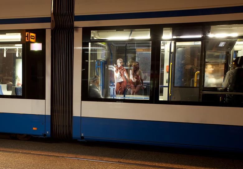 Avondje in Amsterdam - Urban Nude shoot. Bianca en Davon in Amsterdam