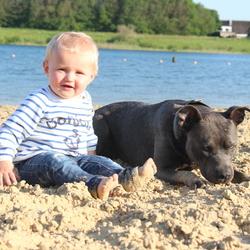 Vriendjes op het strand