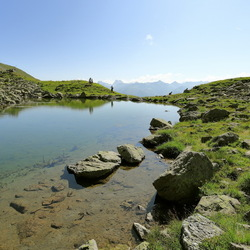 klein bergmeertje boven Serfaus