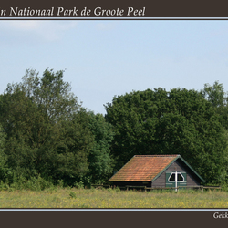 Paardenstal in Nationaal Park De Groote Peel