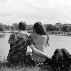 Together on the lake.
