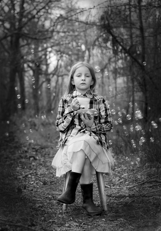 bubble  tea - thee in het bos.....