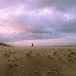 stormachtig aan de kust