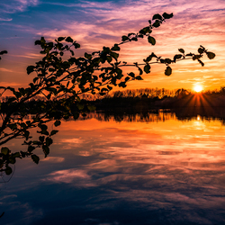 Kleurrijke zonsondergang 17-4-18