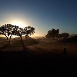 Zonsopgang Namibië