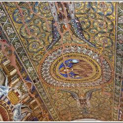 Plafond In de ruine kerk (Berlijn)
