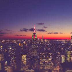 New York Sky line Tilt-Shift