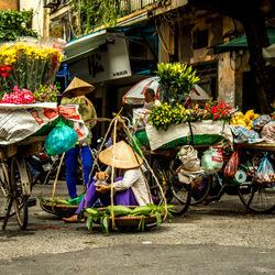 Straatleven in Hanoi, Vietnam