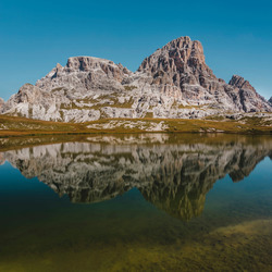 Reflections on the Dolomites.