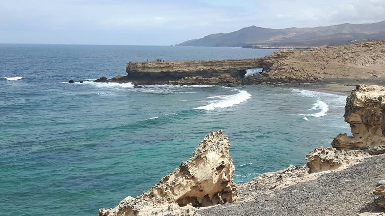 Fuertaventura - De rotsige oostkust van Fuertaventura bij het plaatsje la Pared