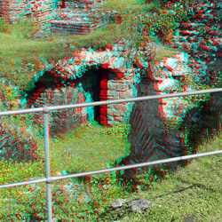 Roman Kaiserthermen Trier Germany 3D