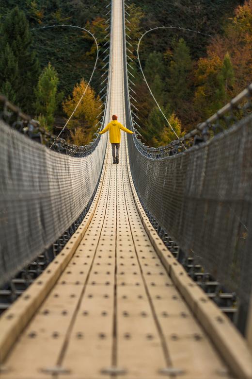 Langste hangbrug van Duitsland.  - Geierlay, Germany&#039;s Longest Suspension Bridge.<br />