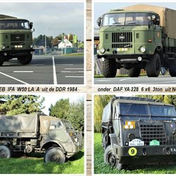 collage   leger trucks DAF YA 328 1954  en DDR  WEB  IFA  W50  LA A 1984