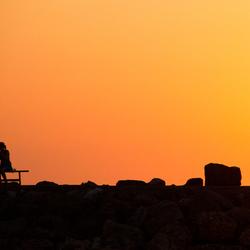 Romantiek bij ondergaande zon
