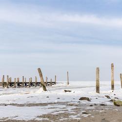 Haventje van Sil onder het ijs.