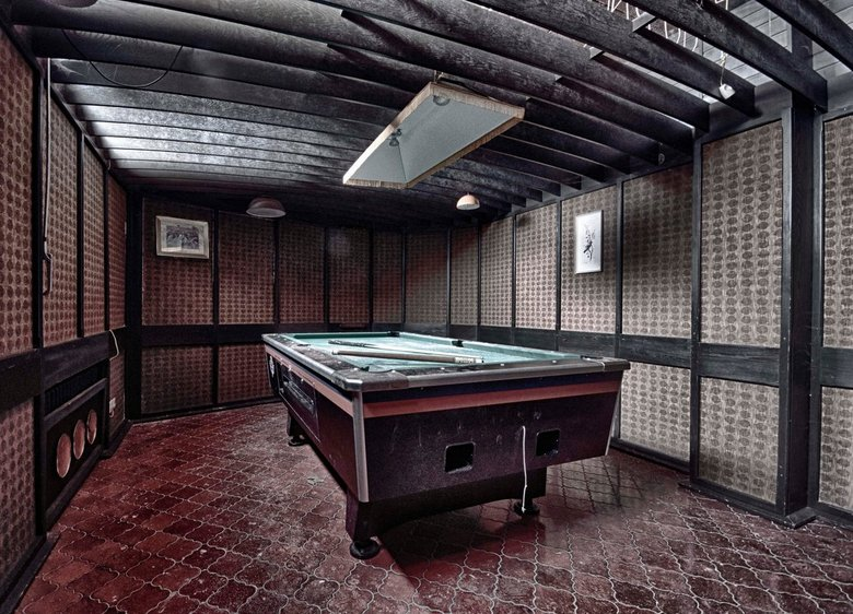 All that remains - is the pooltable
