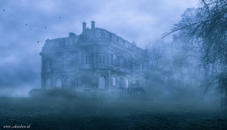 De mist ingaan - Op een vroege morgen zagen we dit prachtige kasteel opduiken in de mist..