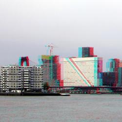 Rotterdam vanaf De Esch hyper-stereo 3D
