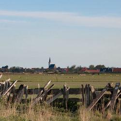 Zicht op Den Hoorn, Texel