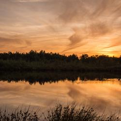 Zonsondergang in de Peel