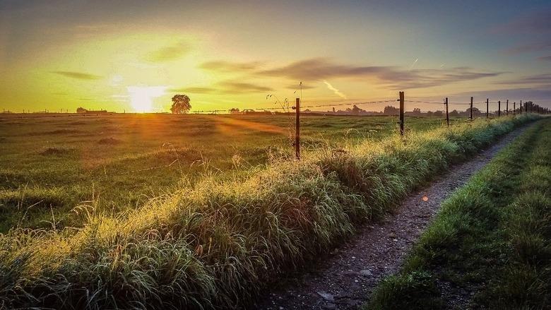 Zonsondergang Visweg - Bergenhuizen -