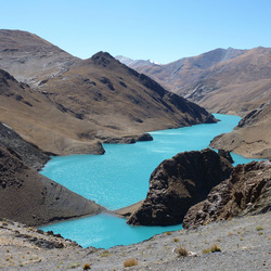 Blue lake in Tibet