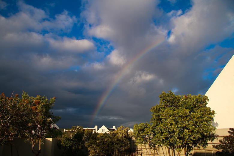 Ook hier een regenboog  - Geweldig uitzicht, een regenboog
