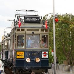 Na 50 jaar Blauwe tram terug in Katwijk