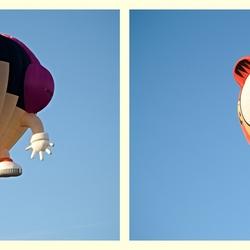 De cartoon ballonnen.