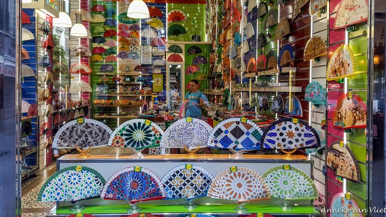 Granada in een toeristenwinkel -