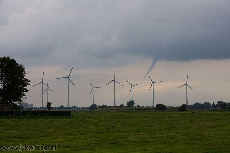 Windhoos bij Weener (D) -