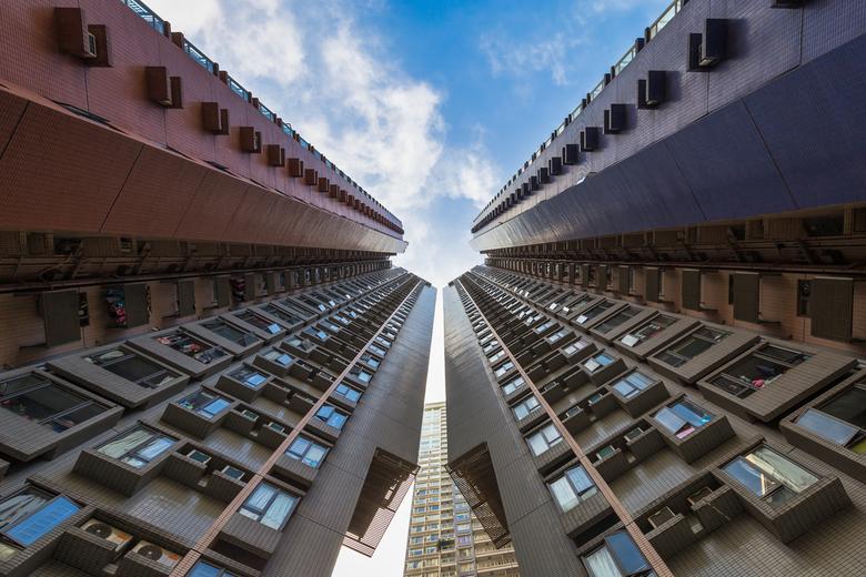 Hong Kong - Woontoren in Hong Kong   China.
