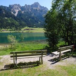 Bankjes aan de Haldensee, Tirol
