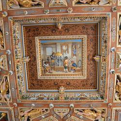 Denemarken: Fredericksborg slot  plafond