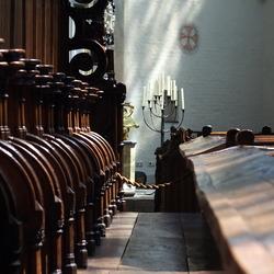 Binnen grote kerk Breda.