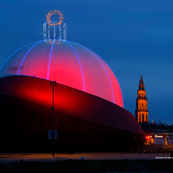 Grote kerstbal DOT Groningen
