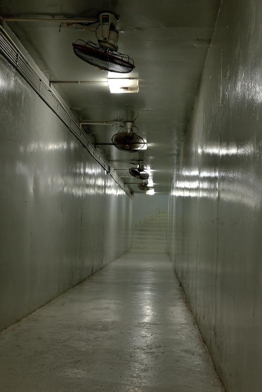 In de bunker