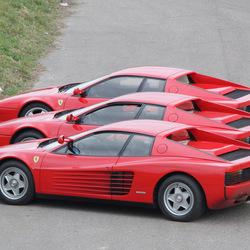 3x Ferrari Testarossa