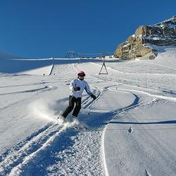 perfecte wintersport omstandigheden
