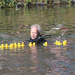 Veiligheid tijdens de badeenden race